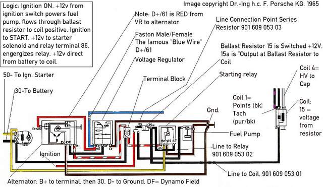 1967 porsche 912 wiring diagram swb relays analyzed  swb relays analyzed